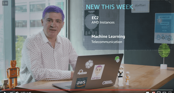 Whats New with AWS Jeff Barr video Week of November 5 2018