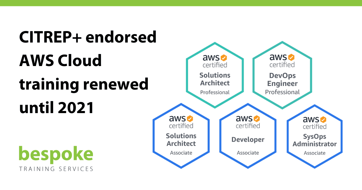 CITREP endorsed AWS Cloud training renewed until 2021